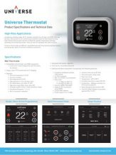 Universe Thermostat Sell Sheet - Thumb